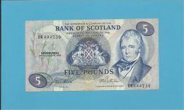 SCOTLAND - UNITED KINGDOM - 5 POUNDS - 03.12.1985 - BLUE - P 112f - BANK OF SCOTLAND - [ 3] Scotland