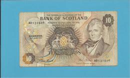 SCOTLAND - UNITED KINGDOM - 10 POUNDS - 16.06.1982 - P 113c - BANK OF SCOTLAND - [ 3] Scotland