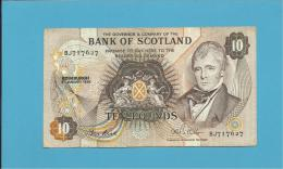SCOTLAND - UNITED KINGDOM - 10 POUNDS - 08.01.1986 - P 113c - BANK OF SCOTLAND - [ 3] Scotland