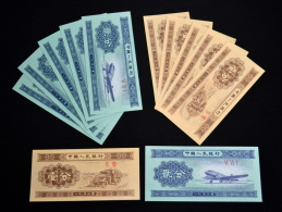 10PCS 1953 China 1 & 2 FEN UNC BANKNOTE PAPER MONEY Second Series Of The RMB - Monnaies & Billets