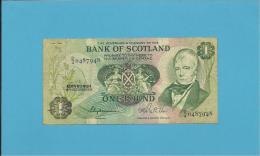 SCOTLAND - UNITED KINGDOM - 1 POUND - 15.10.1979 - P 111d - BANK OF SCOTLAND - [ 3] Scotland