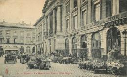 51 REIMS LE MARCHE AUX FLEURS PLACE ROYALE - Reims