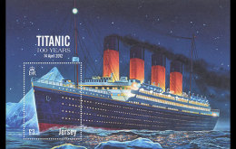 2012 Jersey -  100 Years Of Titanic Voyage - MS  - Paper MNH** - Emisiones Comunes