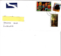 SUD AFRICA 2004 - Lettera Per La Lithuania - Bufalo - Quadro - Infanzia - Afrique Du Sud (1961-...)