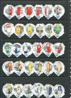 1382 B - Distributeur d essence (Pompe) - Serie complete de 30 opercules Suisse Emmi