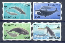 Mpr099s WWF FAUNA ZOOGDIEREN WALVIS WHALE SEA MAMMALS FEROE FOROYAR 1990 PF/MNH - W.W.F.