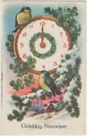 OLD POSTCARD: ´GELUKKIG NIEUWJAAR´ (1934) :  KLOK / HORLOGE / UHR / CLOCK - (Holland/Nederland) - Nieuwjaar