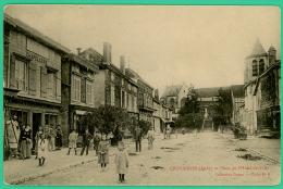 Chavanges - Aube -  Place De L'Hôtel De Ville - Animée - Bar-sur-Aube