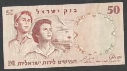 [NC] ISRAEL - BANK Of ISRAEL - 50 LIROT / LIRA (1960) - Israele