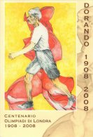 ITALIA CORREGGIO (RE) 2008 - CENTENARIO OLIMPIADI LONDRA 1908: DORANDO PIETRI - FOLDER SPECIALE - Verano 1908: Londres