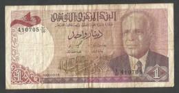 [NC] TUNISIE - BANQUE CENTRALE De TUNISIE - 1 DINAR (1980) BOURGUIBA - Tunisia
