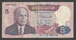 [NC] TUNISIE - BANQUE CENTRALE De TUNISIE - 5 DINARS (1983) BOURGUIBA - Tunisia