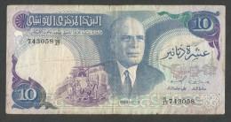 [NC] TUNISIE - BANQUE CENTRALE De TUNISIE - 10 DINARS (1983) BOURGUIBA - Tunisia
