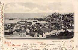 [DC7446] ANCONA - SALUTI DA ANCONA - PANORAMA - Viaggiata 1898 - Old Postcard - Ancona