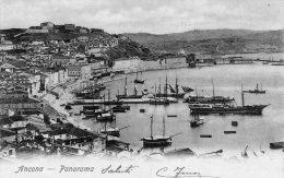 [DC7447] ANCONA - PANORAMA - BARCHE - Viaggiata - Old Postcard - Ancona