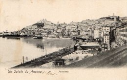 [DC7448] ANCONA - UN SALUTO DA ANCONA - PANORAMA - Viaggiata - Old Postcard - Ancona