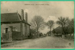 Dosnon   - Aube -  Route De Mailly Le Camp - Animée - Troyes