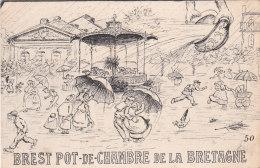 BREST POT DE CHAMBRE DE LA BRETAGNE Cpa Circulée Bon état  Voir Scans - Humor