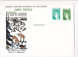 Prêt à Poster PAP Salon Du Champignon PONTARLIER Societe Histoire Naturelle Du Haut Doubs Chamois Signee AB Timbrée - Entiers Postaux