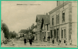 Estissac   - Aube -  Avenue De La Gare -   Animée - - Troyes