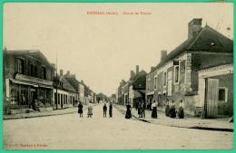 Estissac   - Aube -  Route De Troyes   -  Animée - Troyes