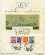 Böhmen Und Mähren 100 Jahre Nordbahn Prerau 1941 - Trains