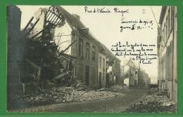 - Carte Photo Peu Courante  : Nieuwpoort - Nieuport - Rue D ´ Ostende Guerre  - Souvenir De 1914 - 15 - Nieuwpoort