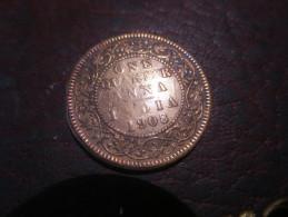 GRANDE BRETAGNE INDIA - 1 QUARTER ANNA 1908- TB VOIR PHOTOS - Kolonies