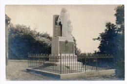 CPA 50 REVILLE Carte-photo Du Monument Aux Morts, Unique ! - Sonstige Gemeinden