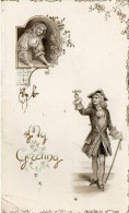 Carte De NOEL  2 Volets -  With All Good Wishes For A Very HAPPY  CHRISTMAS. - Noël