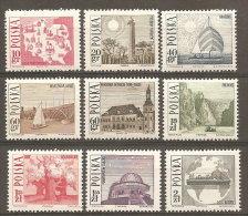 Pologne  Poland Polen Polska  ** MNH   N° YT 1555.63 Tourisme Phare Voilier Planétarium Carte .... - 1944-.... République