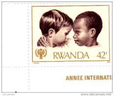 A] Timbre Stamp ** 42 F Année De L´Enfant Children's Year Enfance Children Childrenhood Rwanda - Rwanda