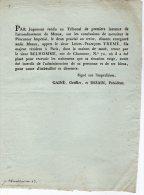 VP705 - MEAUX X PARIS AN 13 -  Jugement  Sieur L. F. TREME / Maison De Santé Rue De Charonne - Posters