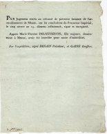 VP706 - MEAUX  - AN 14 - Jugement M. T. DELAUSSEROIS - Posters