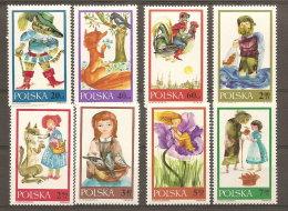 Pologne  Poland Polen Polska  ** MNH   N° YT 1678.85 Fables Chat Botté Renard Corbeau Loup Pigeons Coq Poissons - 1944-.... Republik
