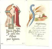 """DEUX IMAGES D UNE COMMUNION SOLENELLE A """" SUR LA SEIGNE """" 10 JUIN 1951 - Devotion Images"""