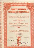 7 X SOCIETE GENERALE FONCIERE ET INDUSTRIELLE Bruxelles Belgique - Bank En Verzekering