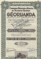 7 X GEORUANDA Compagnie Geologique Et Minière Du Ruanda Urundi - Afrika