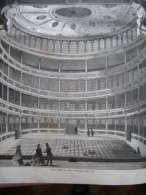 Praha -Prague - Innere Ansicht Des Neuen Sommertheaters -Theater - In Prag  1859-engraving-ILZ1859I.5 9 - Stampe & Incisioni