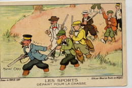 Chasse , Chasseurs , Illustrateur ( Marcel CAPY) Humour , Fantaisie . Ed. Alcool De Menthe RICQLES - Hunting
