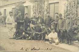 Militaires Militaria - Ref D133- Carte Photo Cachet Depart Falaise A Couliboeuf -calvados   -carte Photo Bon Etat - - Régiments