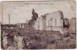 GUERRE 1914.1918. VERDUN BOMBARDE . CHARNY . EGLISE ET RUINES - War 1914-18