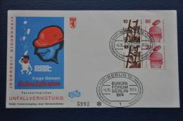 DEUTSCHE BUNDESPOST BERLIN LETTER 1974 MICHEL W 55 W 56 - Brieven En Documenten