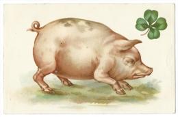 JOLI COCHON ROSE - Trèfle à 4 Feuilles - A & M. B N°205 - D. Paillet - Lyon - Cochons