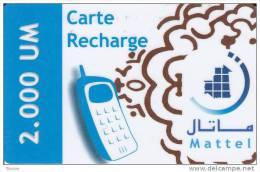Mauritania, MA-rt-27, 2000 UM,  Mobil Bleu, 2 Scans. - Mauritania