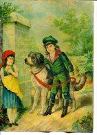 Jeune Garçon Promenant Son Chien - Kinderen