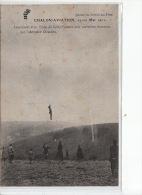 CHALON-AVIATION - 1911 - Lancement D'un Train De Cerfs-Volants Avec Ascension Humaine - Très Bon état - Chalon Sur Saone