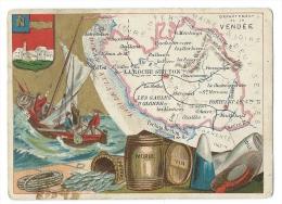 Carte Géographique De La Vendée De 1884 En Témoignage De Satisfaction Du Pensionnat De Mme Tardy- Caperoni - Gannat - Géographie
