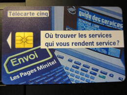 Telecarte Cinq, ENVOI  MGS,used
