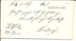 Bad063/  BADEN - Moehringen, Einzeiler In Schwarz 1841 - Duitsland